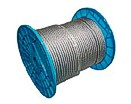 Stainless steel wire rope AISI316 on plastic reel