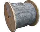 Brassed and PVC coated steel wire rope on synthetic spool