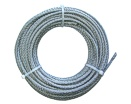 Brassed and PVC coated steel wire rope in coil
